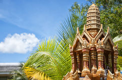 Thai spirit house 03. A miniture spirit house that you can find outside most homes in Thailand Stock Image