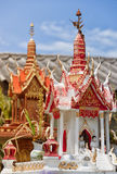 Thai spirit house 05. A miniture spirit house that you can find outside most homes in Thailand Royalty Free Stock Photos