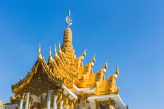 Thai Spirit House beautiful art handcraft Thai style. Traditional culture architecture Royalty Free Stock Photography
