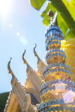 Thai spirit house with blue sky Royalty Free Stock Image