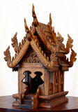 Thai spirit house (teak) Royalty Free Stock Image