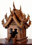 Thai Spirit House (teak) Royalty Free Stock Image
