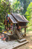Thai spirit wood house for Thai angel. Style Royalty Free Stock Photo
