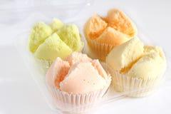Thai sponge cake is dessert. Stock Photos