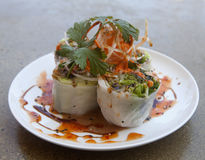Thai spring roll appetizer Stock Photos