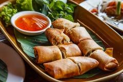Thai Spring Roll Stock Photo