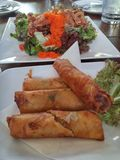 Thai spring roll Stock Photo