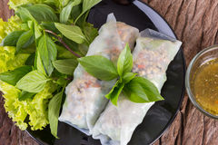 Thai spring roll Stock Image