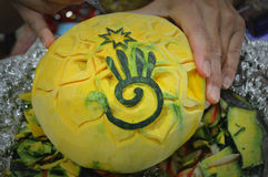Thai Squash Carving Stock Photography