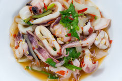 THAI SQUID SALAD Royalty Free Stock Images