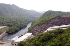 Thai Sri Nakharin Dam big Stock Photo