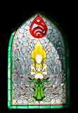 Thai Stained glass windows Stock Photography