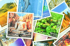 Thai stamp - tourist places in thailand Royalty Free Stock Photo