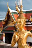 Thai Statue. Golden Thai Statue at the Temple of the Emerald Buddha, Bangkok, Thailand Stock Photos
