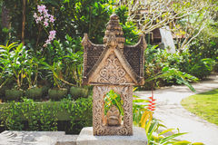Thai statue in a garden. Stock Photos