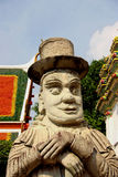 Thai statue with a hat Stock Photography