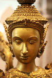 Thai statue woman face closeup Royalty Free Stock Photo