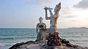 Thai statues stock footage