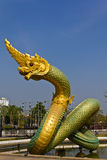 thai staty för drakekonungnaga Arkivfoto