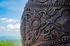thai staty för drakekonungnaga Arkivfoton