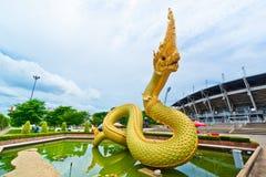 thai staty för drakekonungnaga Royaltyfri Bild