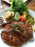 Thai steak. Thai pork steak Royalty Free Stock Photo