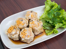 Thai Steamed Crab Meat Dumplings Royalty Free Stock Photography