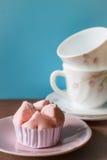 Thai steamed cup cake Stock Photos