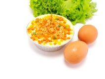 Thai Steamed Egg or Egg custard Royalty Free Stock Photography