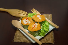 Thai steamed Fish curry (Hor Mok) Royalty Free Stock Photography