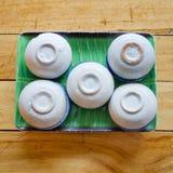 Thai steamed pandanus cake Stock Photography