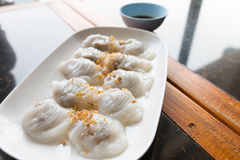 Thai Steamed Rice-skin Dumplings Royalty Free Stock Images