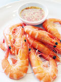 Thai Steamed shrimp Royalty Free Stock Images