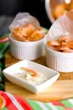 Thai Steamed shrimp . Stock Photos