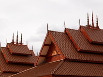 Thai stepping roof top style Royalty Free Stock Images