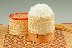Thai Sticky Rice Box Isolated Stock Photo