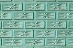 Thai stil för blå för tegelstenvägg gammal design för modell arkivfoton