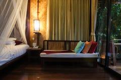 thai stil för bungalow i Thailand Arkivbild