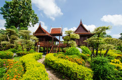 Thai stil för hus Arkivbild