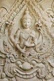 thai stil för staty för konstbuddha stöpning Arkivbilder