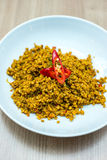 Thai stir fried mince pork with herbs. Royalty Free Stock Image