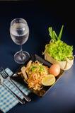 Thai stir-fried rice noodles & x28;Pad Thai& x29;. Thai stir-fried rice noodles. & x28;Pad Thai& x29 stock photo