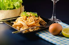 Thai stir-fried rice noodles & x28;Pad Thai& x29;. Thai stir-fried rice noodles. & x28;Pad Thai& x29 royalty free stock photos