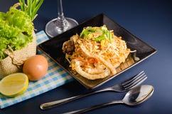 Thai stir-fried rice noodles & x28;Pad Thai& x29;. Thai stir-fried rice noodles. & x28;Pad Thai& x29 royalty free stock photography