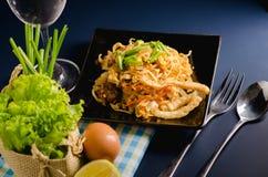 Thai stir-fried rice noodles & x28;Pad Thai& x29;. Thai stir-fried rice noodles. & x28;Pad Thai& x29 royalty free stock image