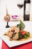 Thai stir fried seafood with Thai herb. Stock Image