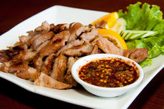 Thai stly BBQ grill pork Royalty Free Stock Images