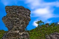 Thai Stonehenge. On top of mountain royalty free stock images