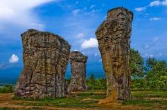 Thai Stonehenge. On top of mountain stock photography