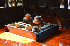Thai stove and pottery, Traditional Thai style kitchen. Stock Image